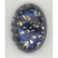Dark Blue Glass Opal Cabochons German 14x10mm