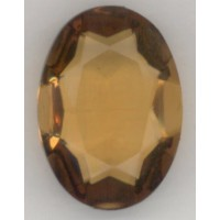 Topaz Glass Oval Unfoiled Jewelry Stone 25x18mm