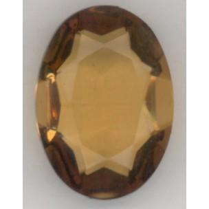 Topaz Glass Oval Unfoiled Jewelry Stone 25x18mm ^