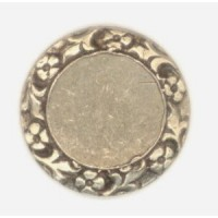 ^Floral Edge Setting Base for 10mm Oxidized Brass (4)