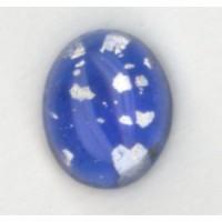 Blue Glass Opal Cabochons Handmade 10x8mm