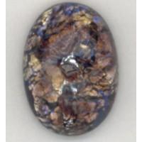 Amethyst Glass Opal Cabochons Handmade 14x10mm
