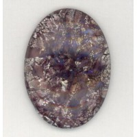 Amethyst Glass Opal Cabochon 25x18mm