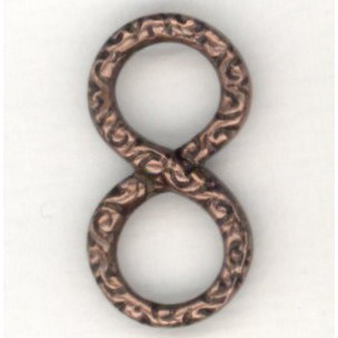 ^Infinity Symbol Connectors 20mm Oxidized Copper (6)