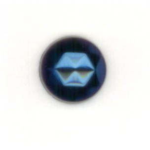 ^Iris Blue Flat Back 7mm Faceted Top Jewelry Stones