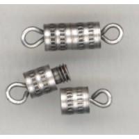 ^Barrel Clasps Oxidized Silver 4mm (6)