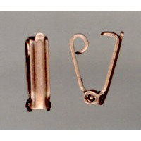 ^Vintage Style Oxidized Copper Plated Foldover Clasps (12)