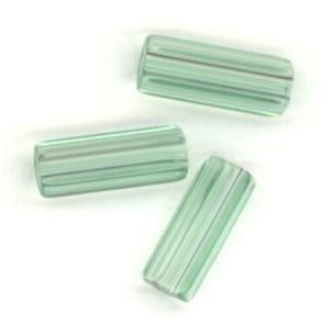 ^Peridot Czech Glass Hex Tube Beads 10x4mm (50)