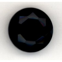 ^Jet Glass Faceted Jewelry Stone Round 18mm