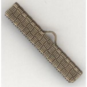 ^Textured Choker Clamps Oxidized Brass 32mm (6)