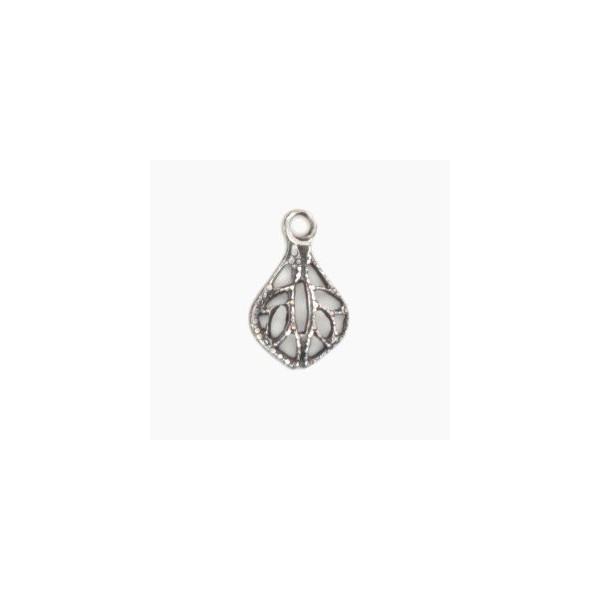 Tiny filigree drop pendants oxidized silver 12mm tiny filigree drop pendants oxidized silver 12mm aloadofball Choice Image