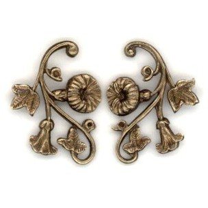 ^Morning Glory Right and Left Flourishes Oxidized Brass (1 set)
