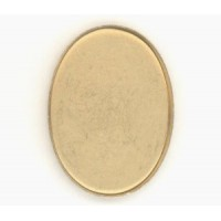 Raw Brass Simple Low Wall Bezel Settings 25x18mm