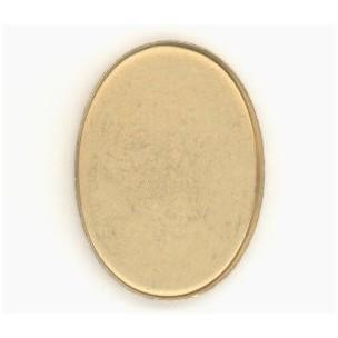 ^Raw Brass Simple Low Wall Bezel Settings 24x17mm