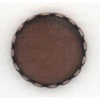 Lace Edge Settings 18mm Oxidized Copper