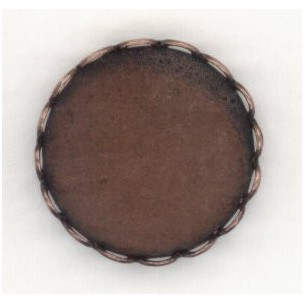 ^Lace Edge Settings 18mm Oxidized Copper
