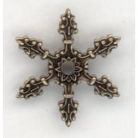 Ornate Six Pronged Setting Effect Oxidized Brass