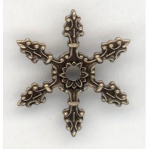 ^Ornate Six Pronged Setting Effect Oxidized Brass (3)