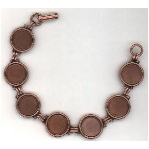 Bracelet Finding Oxidized Copper 13mm Settings