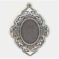 Elegant Details Oxidized Silver Setting 18x13mm (1)