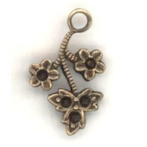 ^Flower and Leaf Sprays to Hold Rhinestones Brass