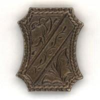 Royal Crest Oxidized Brass 18mm Medallion (4)
