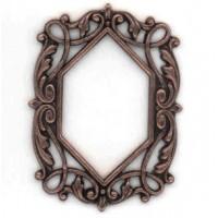 Ornate Oxidized Copper Openwork Frame 50mm