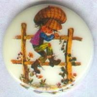 Vintage Holly Hobbie Cabochon 18mm Round