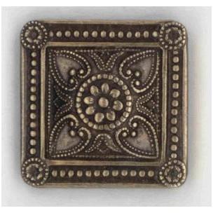Ornamental Squares Oxidized Brass 19mm (6)