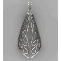 Filigree Made for Wrapping Oxidized Silver 58mm (1)