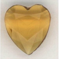 Topaz Glass Heart-Shape Stones Unfoiled 12x11mm