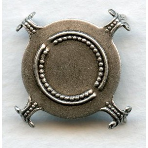 Turtle Settings 25mm Stones Oxidized Silver (3)