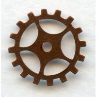 Steampunk Gears Oxidized Copper 19mm (12)
