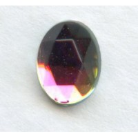 Vitrail Med Flat Back Faceted Top 8x6mm Jewelry Stones