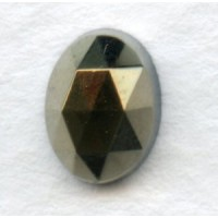 ^Iris Brown Flat Back Faceted Top 8x6mm Jewelry Stones