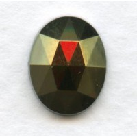 ^Iris Brown Flat Back Faceted Top 10x8mm Jewelry Stones (4)