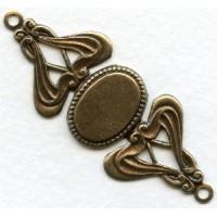 Fabulous Bracelet Connector Base Oxidized Brass (1)