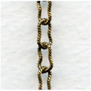 Peanut Chain 7.5x4mm Links Antique Gold (3 ft)