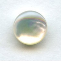 White Mother of Pearl 9mm Shell Cabochons