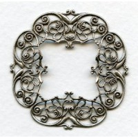Intricately Detailed Filigree 48mm Frame Oxidized Silver (1)