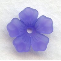 ^Lucite Bell Shape Flower Beads Purple Matte Amey 14mm