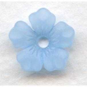 ^Lucite Bell Shape Flowers Matte Blue 14mm