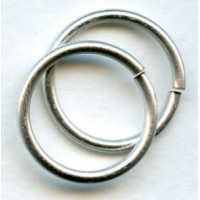 ^Jump Rings 20mm Round Oxidized Silver (12)