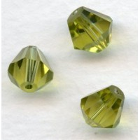 Olivine Bell Shape Faceted Glass Beads 8x7mm