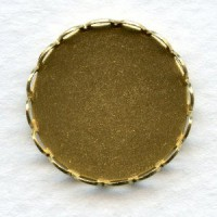 Lace Edge Settings 18mm Round Raw Brass