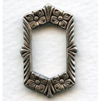 Framework with Flowers 29mm Oxidized Silver