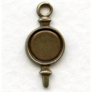The Perfect 7mm Setting Drop Oxidized Brass (6)