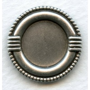 ^Decorative Edge 13mm Settings Oxidized Silver (6)