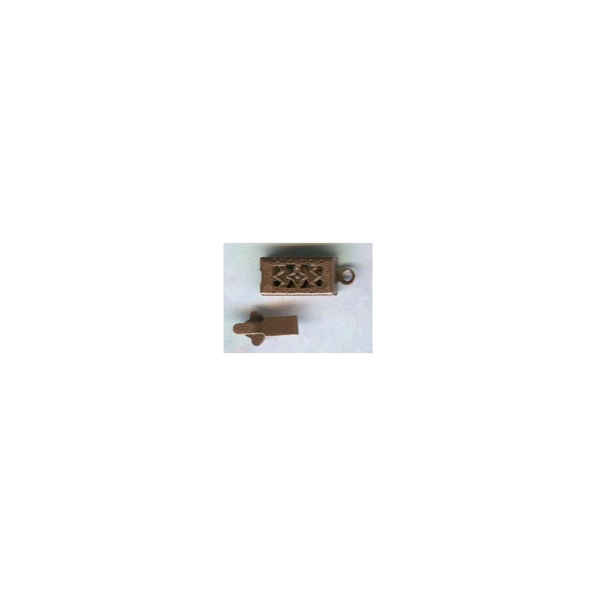 Victorian Style 1 Strand Filigree Box Clasps Copper OX
