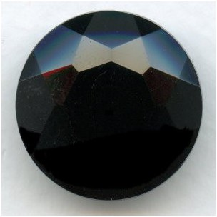 Jet Glass Round 25mm Unfoiled Jewelry Stone (1)